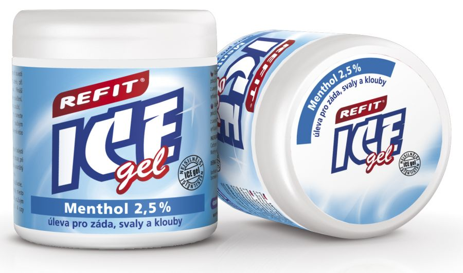 Masážní gel REFIT ICE gel 230 ml modrý